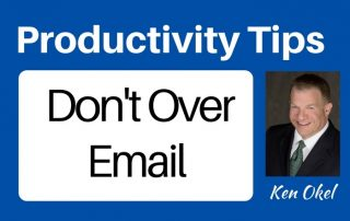 email and clutter, email productivity tip, Ken Okel Professional Speaker in Florida Orlando Miami