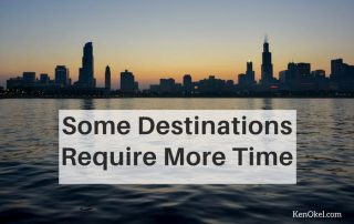 some destinations require more time, Productivity tip, Ken Okel professional speaker in Florida