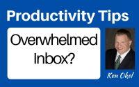 Overwhelmed by your inbox, email productvity tips, Ken Okel keynote speaker in Florida