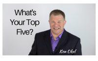 What your top five priorities, productivity tips for leaders, Ken Okel professional speaker, Ken Okel professional speaker in Miami Orlando Florida